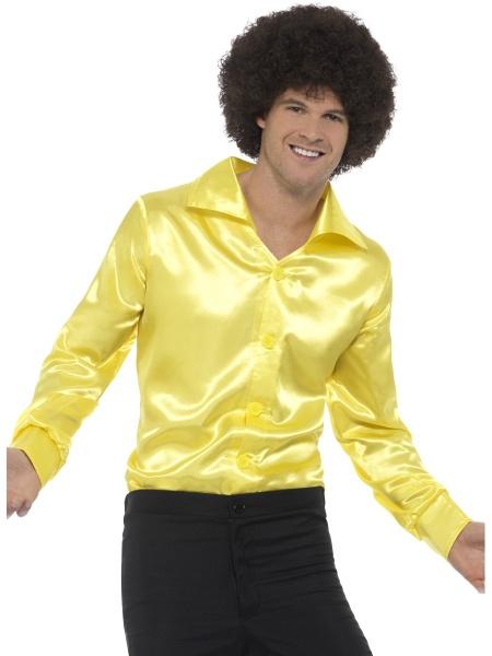 Košile 70. léta žlutá - Ptákoviny.com 10b612a055