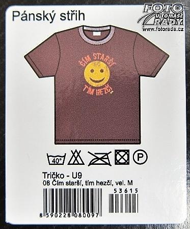 288b67376c17 Vtipné tričko - Čím starší